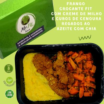 Frango crocante fit - low carb, sem glúten