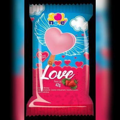 Picolé de Love Moranguinho
