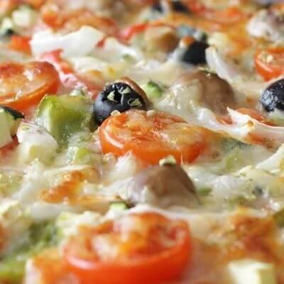 Pizza Vegetariana Com Borda
