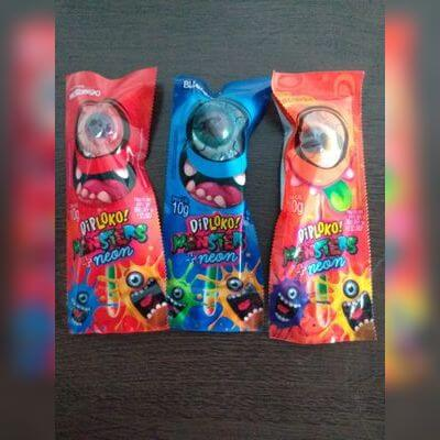 Pirulito Dip Loko Neon Monsters