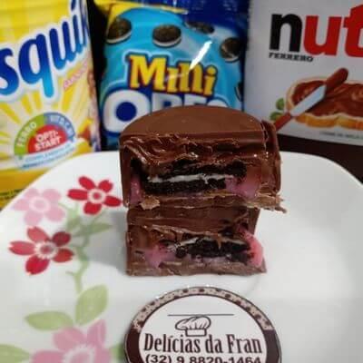 Nesquik com Mini Oreo e Nutella