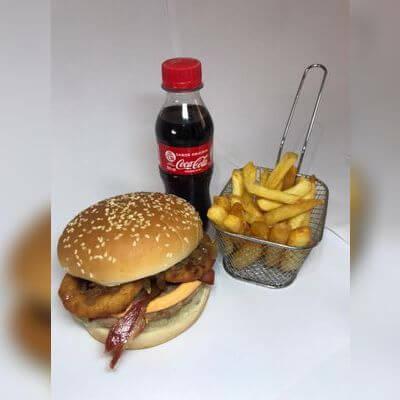 Promoções!: Snack Onion Bacon + Fritas 100g + Bebida