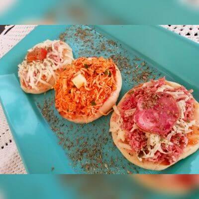 Mini Pizzas - Bandeja com 5 Unidades