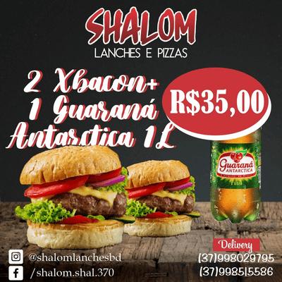 Combos: 2 X-Bacon + 1 Guaraná Kuat 2L