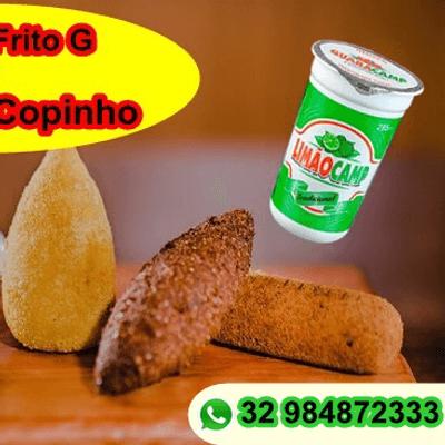 Coxinha catupiry + guaraná copinho