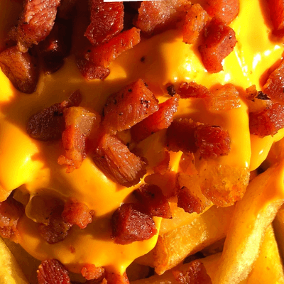 Batata Frita com Creme de Cheddar e Bacon - 500g