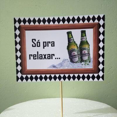 Plaquinha de Foto Só Para Relaxar