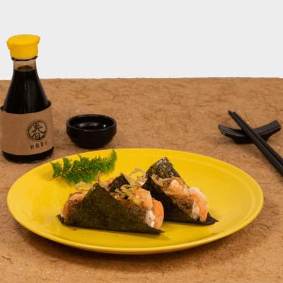 Camarão, Cream Cheese e Crispy de Alho Poró