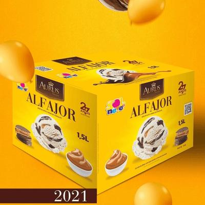 Pote de sorvete de ALFAJOR 1,5l