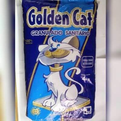 Areia Granulado Sanitário 4kg Golden Cat