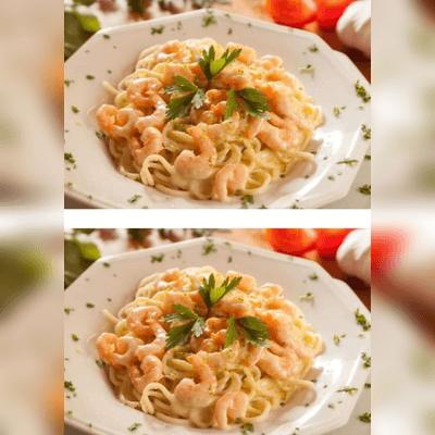 Spaguetti ao Molho de Camarão