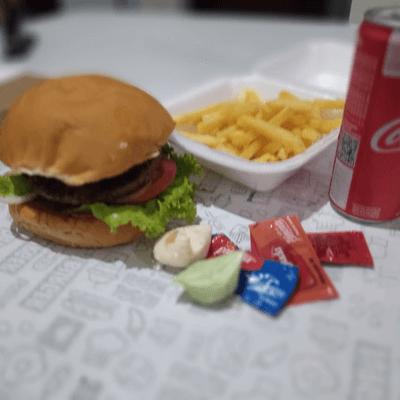 X-Tudo + batata + refr lata