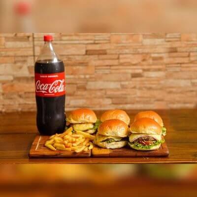 Combos: Combo Especial  - 5 especial mais fritas acompanha um coca 2L