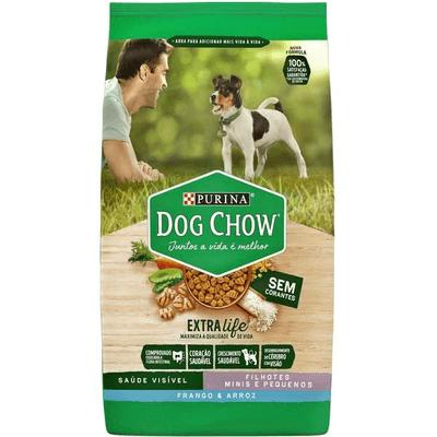 Dog Chow Cães Filhotes Pequeno Porte Sem Corante 1KG