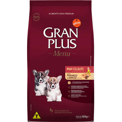 Gran Plus Cães Filhotes Pequeno Porte 1KG