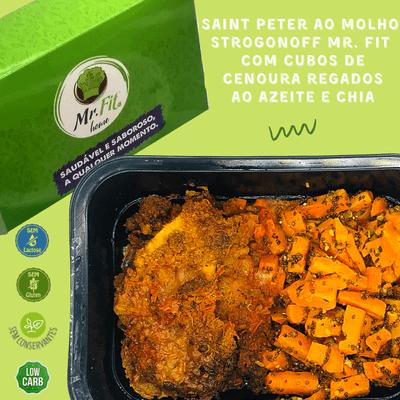 Saint Peter ao molho strogonoff - low carb, sem glúten, sem lactose.