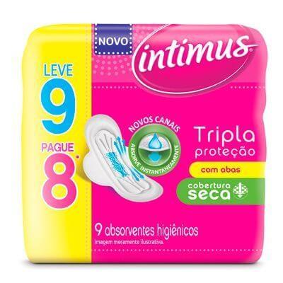Absorvente Intimus Tripla Proteção Leve 9 Pague 8