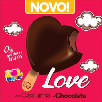Picolé de Chocolove com Casquinha