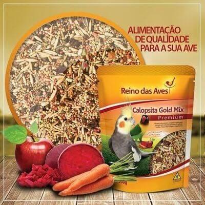 Ração Calopsita Gold Mix Reino das Aves 500g