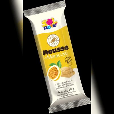 Picolé de Mousse de Maracujá com Cobertura de Chocolate Branco