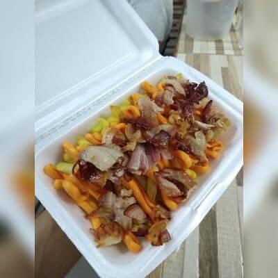 Batata Frita com Bacon e Cheddar