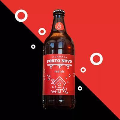 Cerveja Puro Malte Red Ale Porto Novo - 600 ML