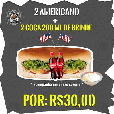 2 Americano + 2 Coca-Cola's 200ml