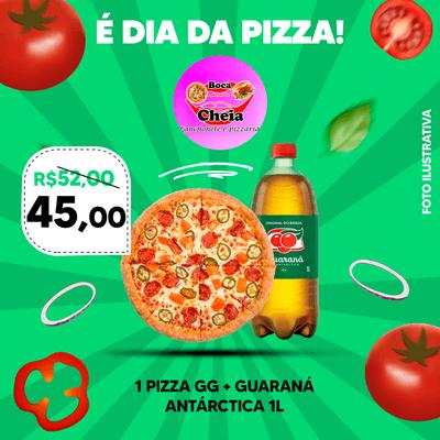 Combos e Promoções: Pizza GG + Guaraná Antárctica 1L