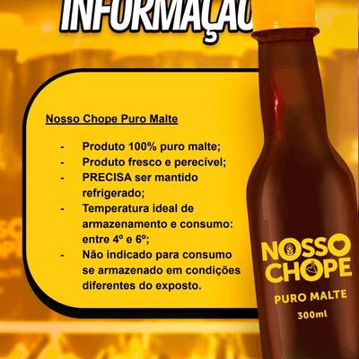 NOSSO CHOPE PURO MALTE 300 ML
