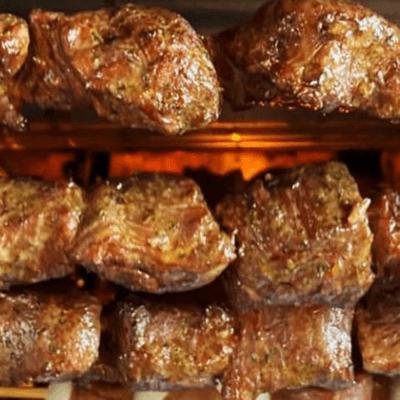 Espetinho de filezinho de porco