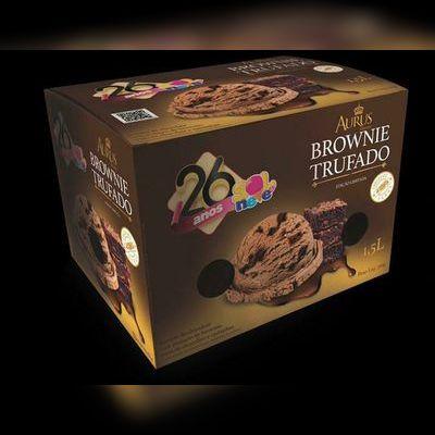 Pote de Sorvete Aurus Brownie Trufado - 1,5L