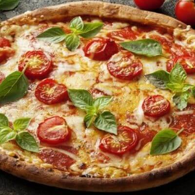Pizza Marguerita Com Borda