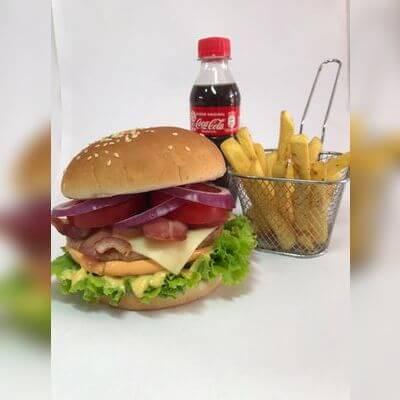 Duplo Cheese Beef + Fritas + Bebida