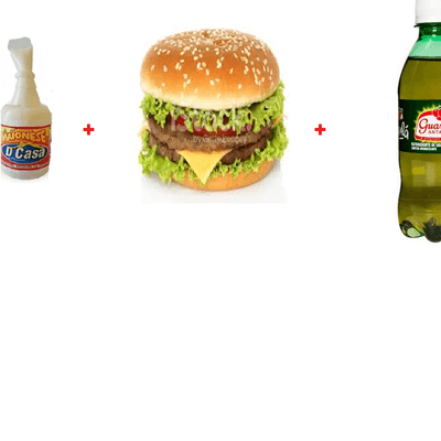 X egg bacon burguer+ Mini Refri Coca ou Guarana + Maionese D Casa