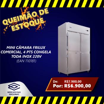 MINI CAMARA FRILUX COMERCIAL 4 PTS CONGELA TODA INOX 220V OFERTA
