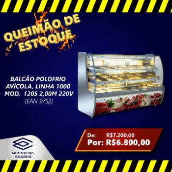 BALCAO POLOFRIO AVICOLA LINHA1000 MOD1205 2.00MT 220V OFERTA