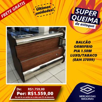 BALCAO ORMIFRIO PIA 1.50M  LUXO/TABACO