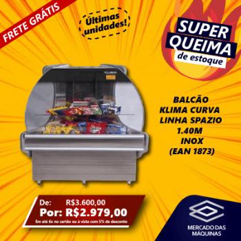 BALCAO KLIMA CURVA  LINHA SPAZIO 1.40M  INOX