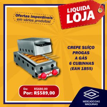 CREPE PROGAS SUICO A GAS 6 CUBINHAS LIQUID