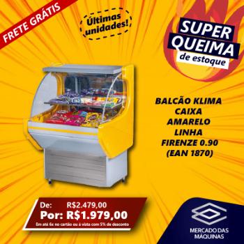 BALCAO KLIMA CAIXA AMARELO LINHA FIRENZE 0.90