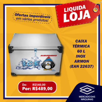CAIXA TERMICA 60 L INOX  ARMON LIQUID