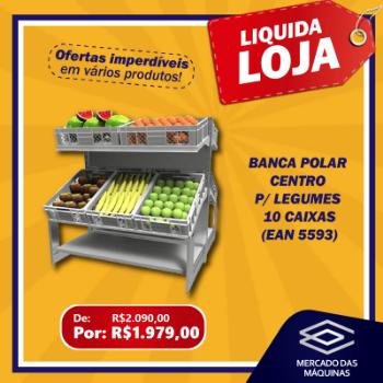 BANCA POLAR CENTRO P/ LEGUMES 10 CAIXAS LIQUID